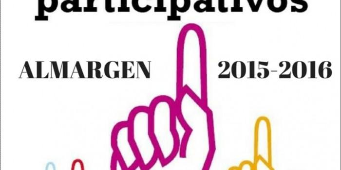 PRESUPUESTOS PARTICIPATIVOS ALMARGEN 2015-2016