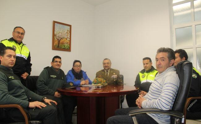 El subdelegado de Defensa en Málaga visita Almargen
